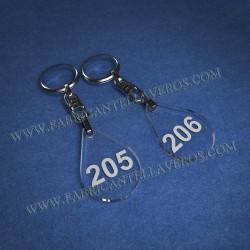 Llaveros Personalizados Elipse 75x20 5mm