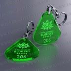 Llaveros Personalizados 45x50mm Verdes Fluor Gota Grande 3mm