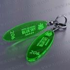 Llaveros Personalizados Elipse verde Fluor 3mm