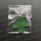 Llaveros Publicitarios Baratos Abridor 30x18mm Ovalado Fluor Verde 3mm grosor