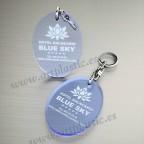 Llaveros Personalizados 75x50mm Ovalados azules Fluor 3mm