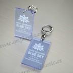 Llaveros Personalizados 80x50mm Rectangulares azules Fluor 3mm