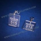 Llaveros Cuadrados 50x50mm grosor 3mm