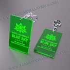 Llaveros Personalizados 80x50mm Rectangulares Verdes Fluor 3mm
