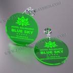 Llaveros Personalizados Redondos verdes 100x100 Fluor 3mm