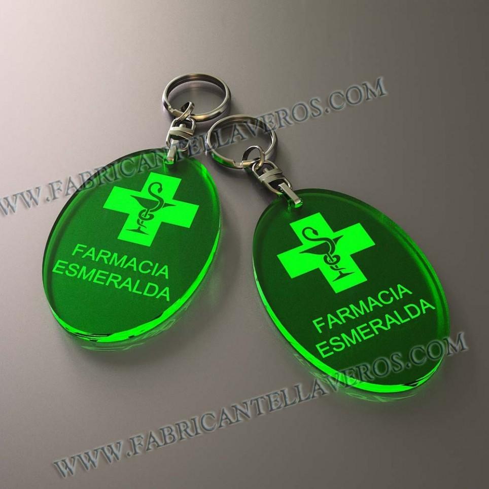 Llaveros Personalizados Ovalados Fluor 3mm