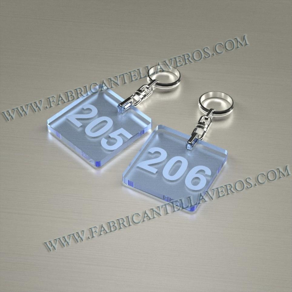Llaveros Personalizados Azules Fluor Gota Grande 3mm