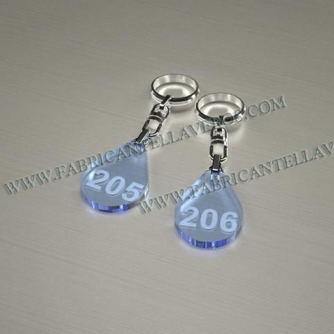 Llaveros Personalizados Gota pequeña Fluor 3mm