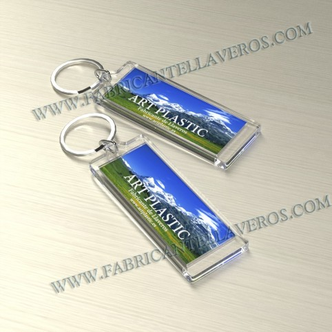 Llaveros Personalizados 110x20mm Rectangulares pequeños 3mm