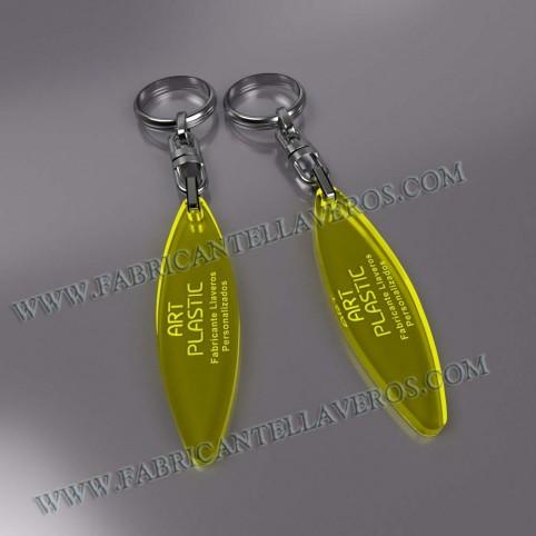 Llaveros Merchandising  ship fluor amarillos grosor 3mm