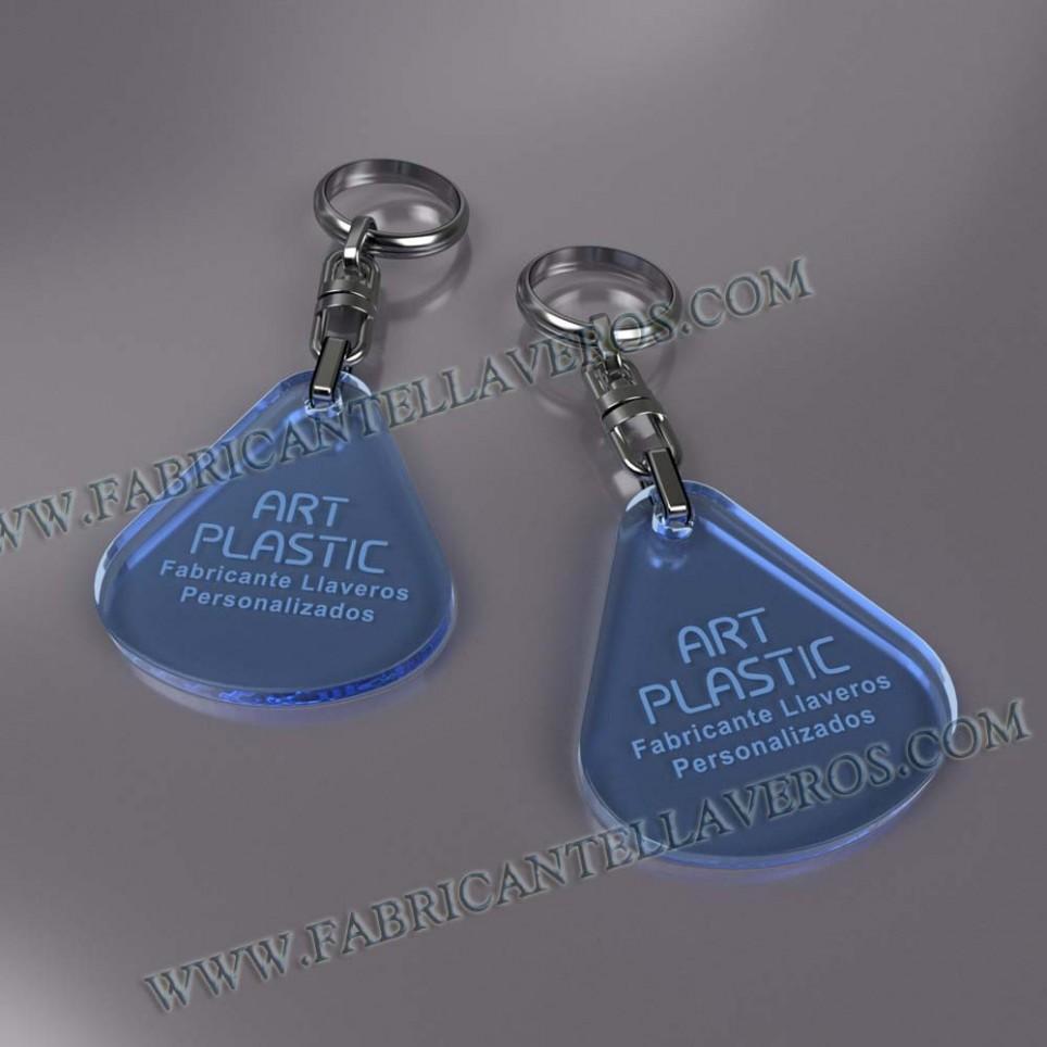 llaveros personalizados gota grande merchandising azules