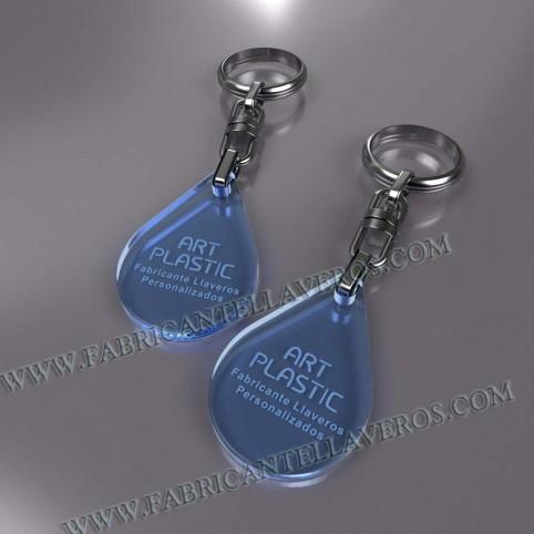 llaveros personalizados gota merchandising azules