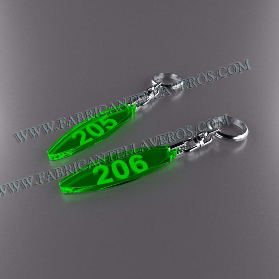 Llaveros Personalizados Elipse Fluor 3mm