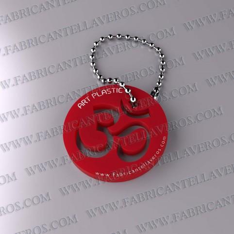 Llaveros 50x50mm Rojo Opaco forma Redonda 3mm grosor