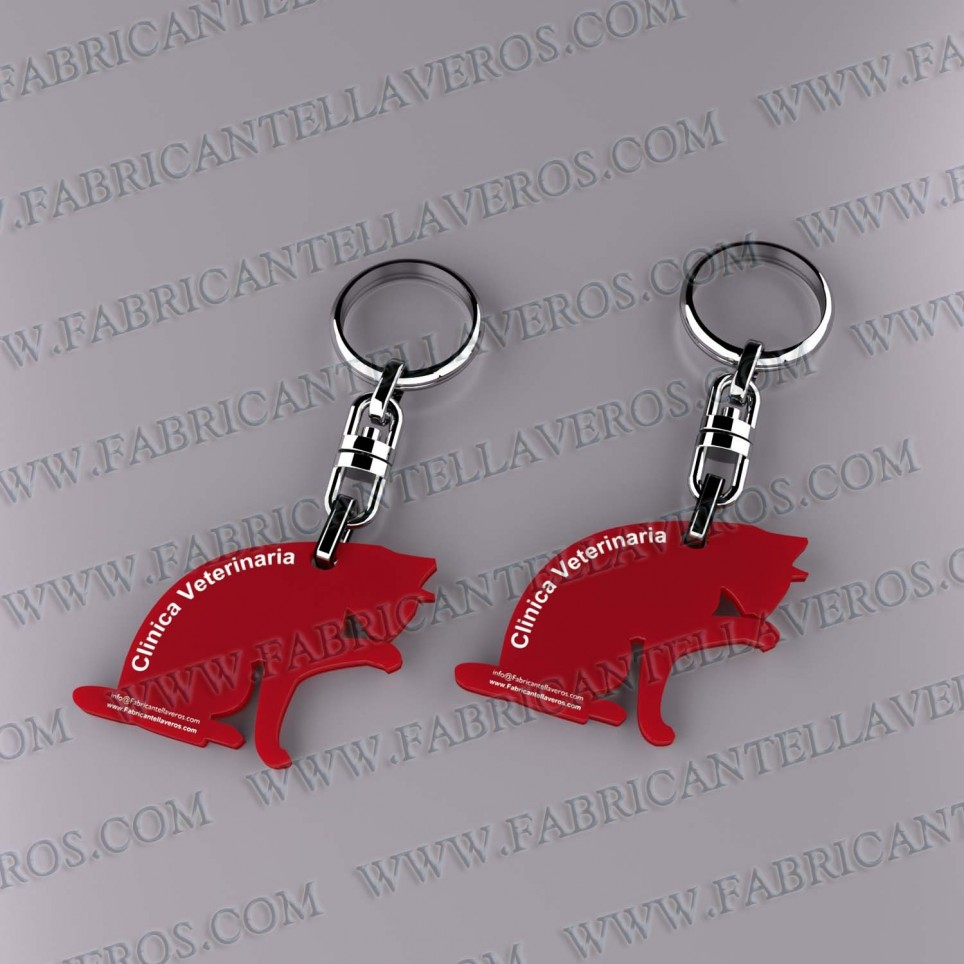 Llaveros 50x50mm Rojo Opaco forma Redonda Laberinto 3mm grosor