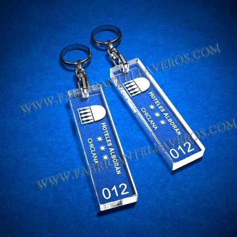 Llaveros Personalizados 75x20mm grosor 3mm