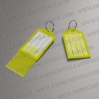 Llaveros para etiqueta amarilla 55x28 mm