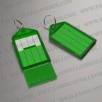 llavero etiqueta verde 55x28 mm