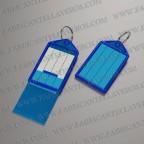 llavero etiqueta azul 55x28 mm