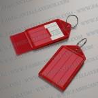 llavero etiqueta roja 55x28 mm