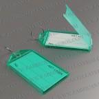 Llaveros Personalizados etiqueta verde 56X30 mm