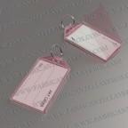 Llaveros Personalizados etiqueta rosado 56X30 mm