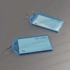 Llaveros Personalizados etiqueta azul 56X30 mm
