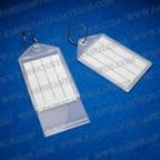 llavero etiqueta transparente 55x28 mm