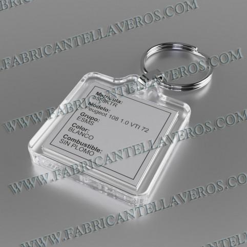 llavero etiqueta transparente 70x30 mm