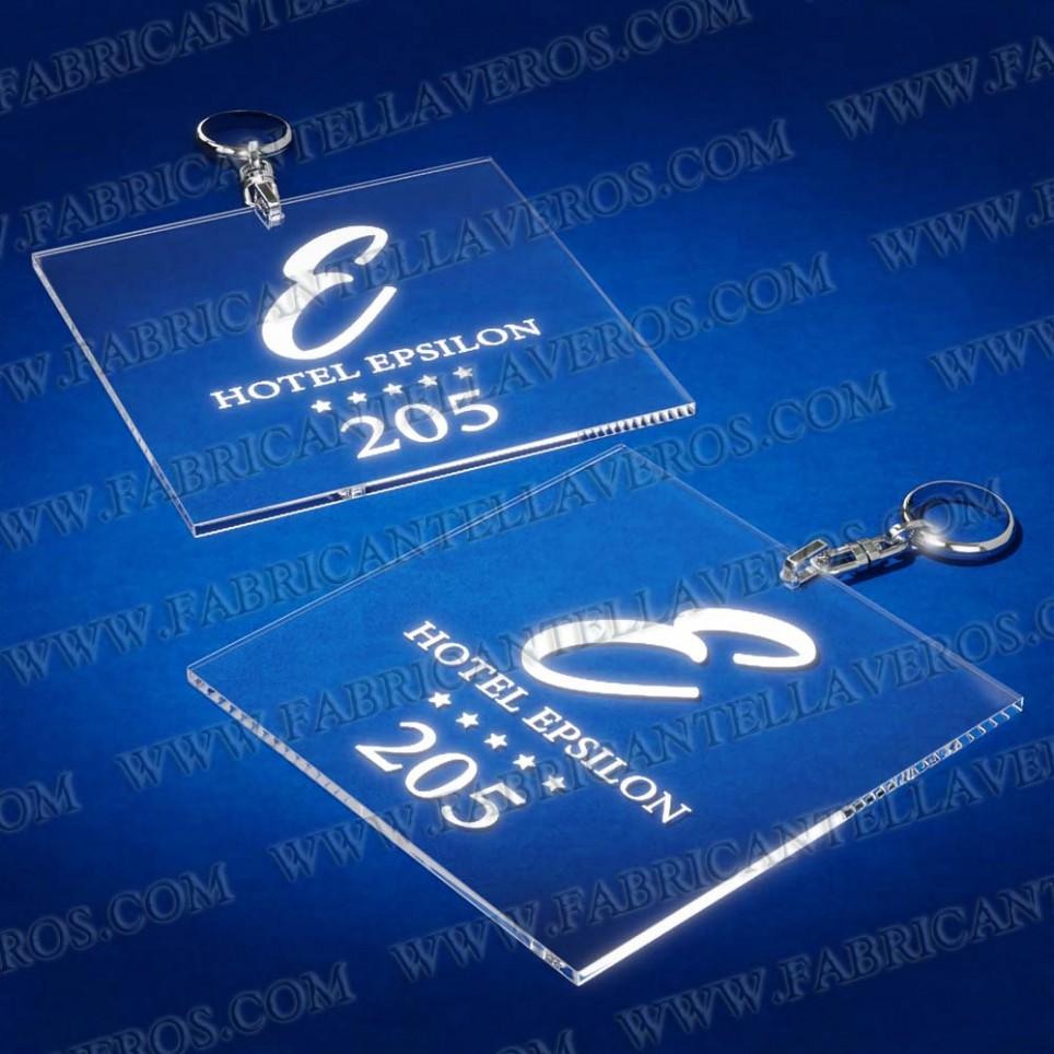 Llaveros Personalizados 100x100mm Cuadrados 3mm