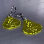 Llaveros Personalizados 45x50mm Amarillos Fluor Gota Grande 3mm