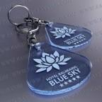Llaveros Publicitarios Baratos 45x50mm Gota Fluor Azul 45x50mm 3mm grosor