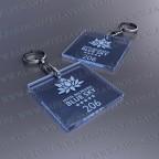 Llaveros Personalizados 50x50 Cuadrados Azules Fluor 3mm
