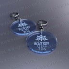 Llaveros Personalizados Redondos azules 50x50 Fluor 3mm