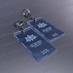 Llaveros Personalizados Rectangulares azules Flúor 100x60 Fluor 3mm