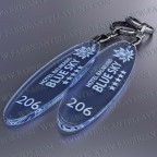 Llaveros Personalizados Elipse azul Fluor 3mm