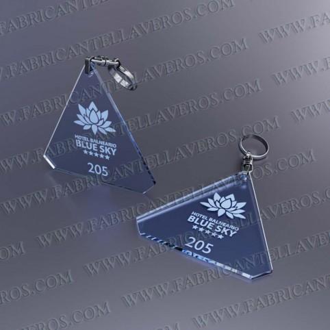 Llaveros Forma Diamante 80x78mm grosor 3mm